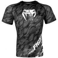 Venum Tecmo Rashguard - Short Sleeves - Dark Grey - L