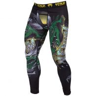 Venum Crocodile Spats - Black/Green
