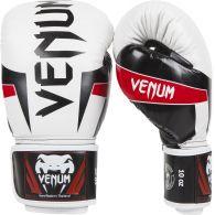 Боксерские перчатки Venum Elite - Белый/Черный/Красный