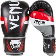 Боксерские перчатки Venum Elite  - Черный/Красный/Серый