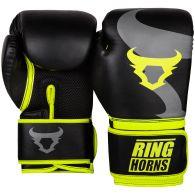 Боксерские перчатки Ringhorns Charger – черные/ярко-желтые