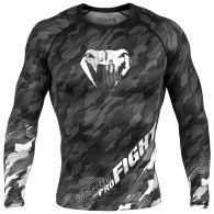 Venum Tecmo Rashguard - Long Sleeves - Dark Grey - S