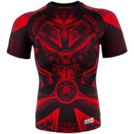 Venum Gladiator 3.0 Rashguard - Black/Red - Short Sleeves