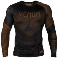 Venum NoGi 2.0 Rashguard - Long Sleeves - Black/Brown - XS
