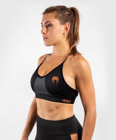 Venum Dune 2.0 Sport Bra - For Women - Black/Bronze