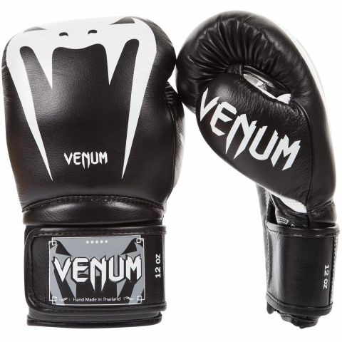 Venum Giant 3.0 Boxing Gloves - Nappa Leather - Black