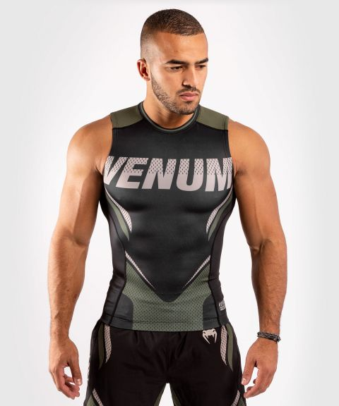 Venum ONE FC Impact Rashguard - sleeveless - Black/Khaki