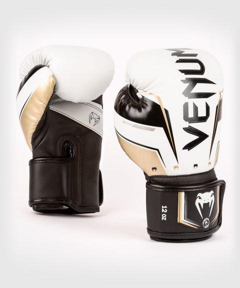 Venum Elite Evo Boxing Gloves - White/Gold