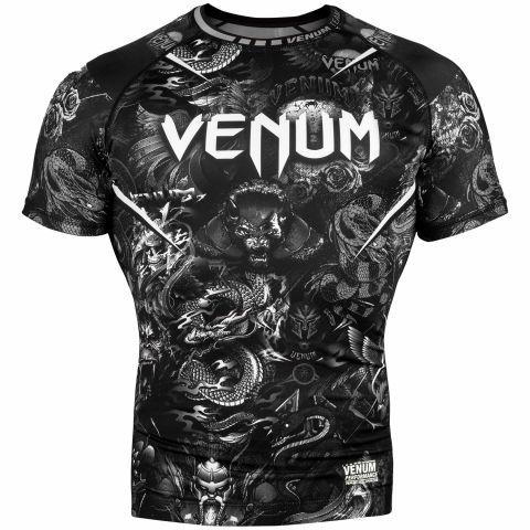Venum Art Rashguard - Short Sleeves - Black/White