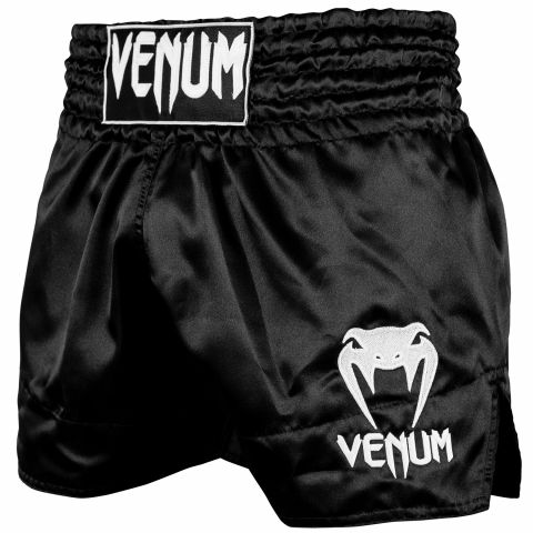 Шорты для тайского бокса Venum Classic - Черный/Белый