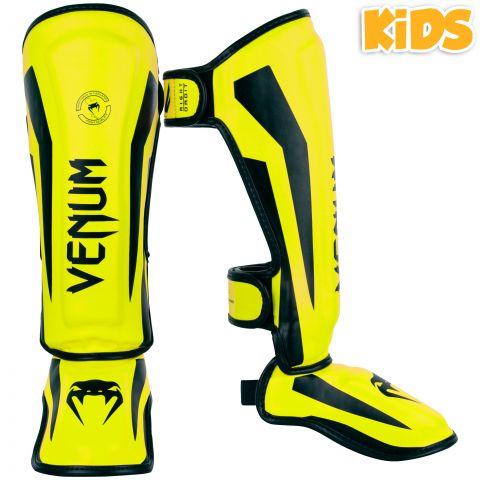 Venum Elite Shin Guards Kids - Exclusive - Neo Yellow