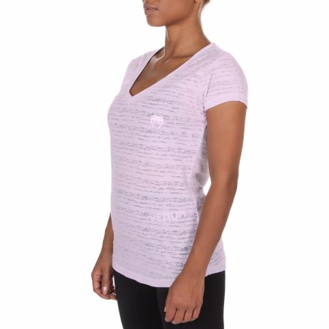 ФУТБОЛКА VENUM ESSENTIAL V NECK - Light Lilac