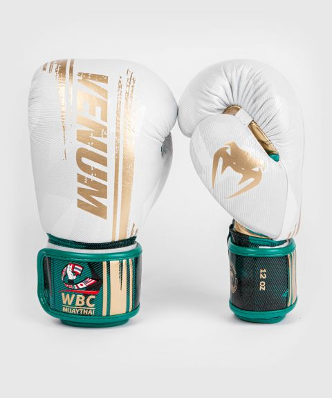 Venum WBC Muay Thai Boxing Gloves - White/Green