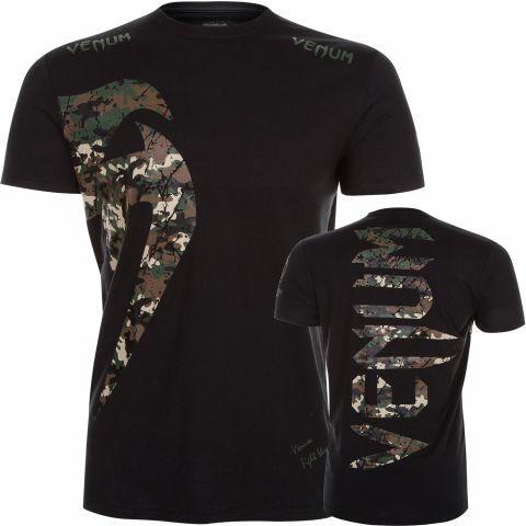 Venum Original Giant T-Shirt - Black/Forest Camo