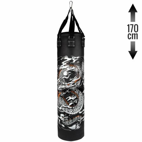 Venum Dragon's Flight Heavy Bag - Black/White - 170 cm