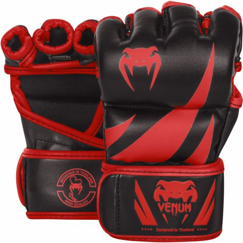 Venum Challenger MMA Gloves - Black/Red - Exclusive
