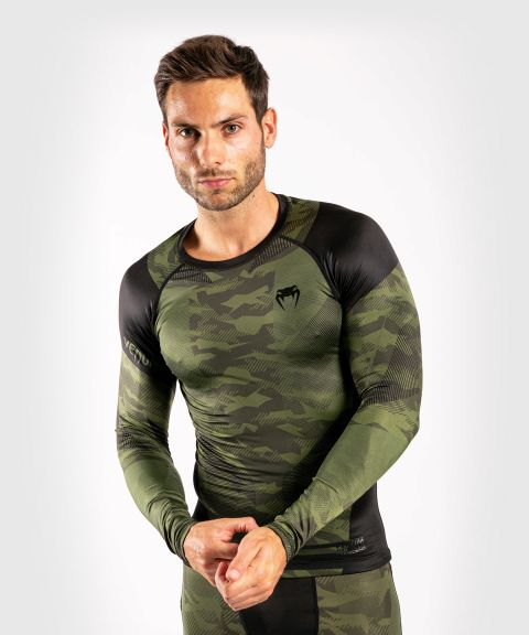 Venum Trooper Rashguard - Long sleeves - Forest camo/Black