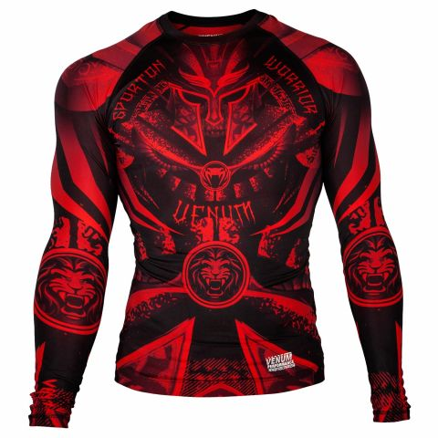 Venum Gladiator 3.0 Rashguard - Long Sleeves - Black/Red