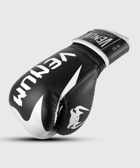 Venum Hammer Pro Boxing Gloves Velcro - Black/White