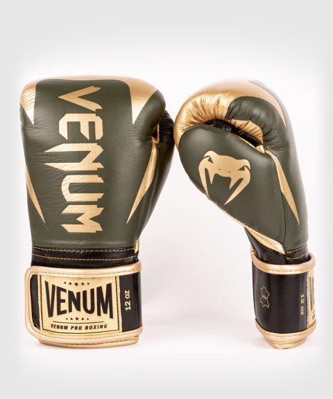 Venum Hammer Pro Boxing Gloves Velcro - Khaki/Gold