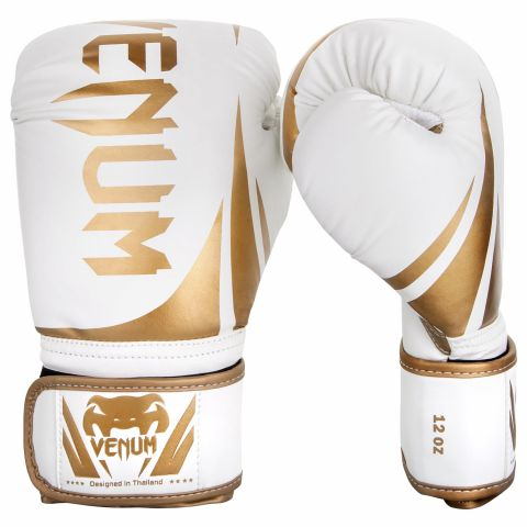 Venum Challenger 2.0 Boxing Gloves - White/Gold