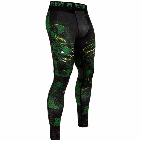 Venum Green Viper Spats - Black/Green