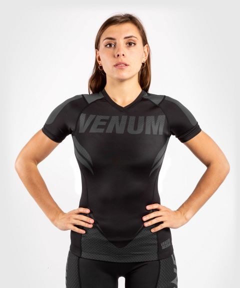 Venum ONE FC Impact Rashguard - short sleeves - for women - Black/Black