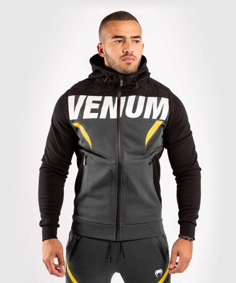 Venum ONE FC Impact Hoodie - Grey/Yellow