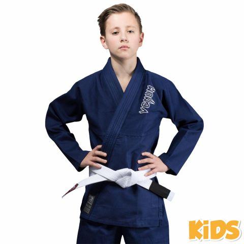 Venum Contender Kids BJJ Gi (Free white belt included) - Navy blue