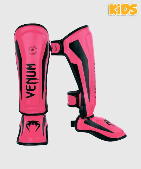 Venum Elite Shin Guards Kids - Exclusive - Neo Pink
