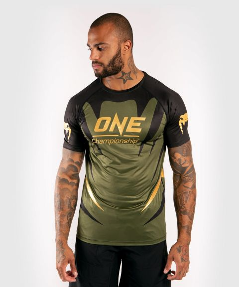 Футболка Dry Tech Venum x ONE FC  - Хаки/Золотой
