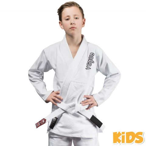 Venum Contender Kids BJJ Gi (Free white belt included) - White