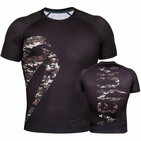 Venum Original Giant Rashguard - Short Sleeves - Black/Forest Camo
