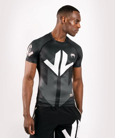 Venum Arrow Loma Signature Collection Short Sleeve Rashguard - Black/White