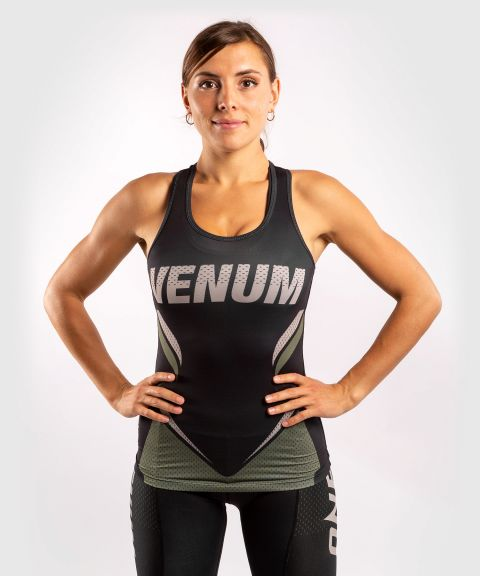 Venum ONE FC Impact Tank top - for women - Black/Khaki