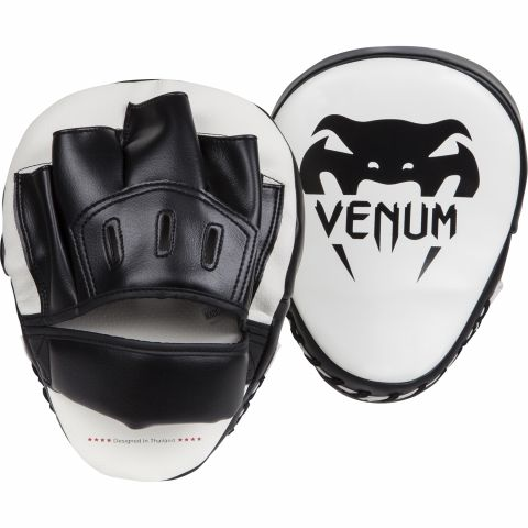 Venum Light Focus Mitts - White/Black (Pair)