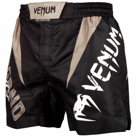 Бойцовские шорты Venum Underground King — черный/песочный