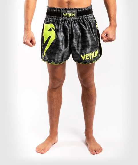 Venum Giant Camo Muay Thai Shorts - Black/Yellow