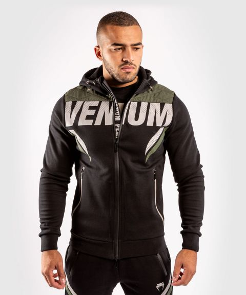 Venum ONE FC Impact Hoodie - Black/Khaki