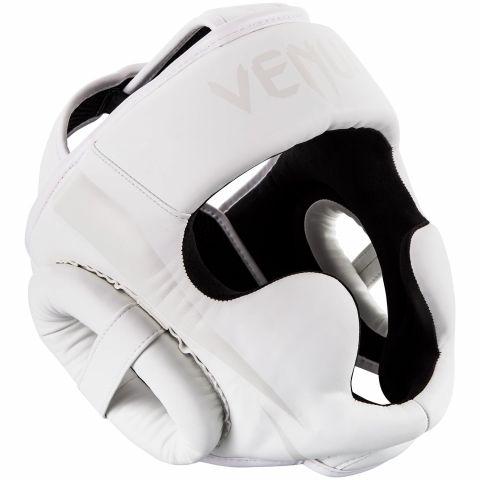 Venum Elite Headgear - White/White - Taille Unique