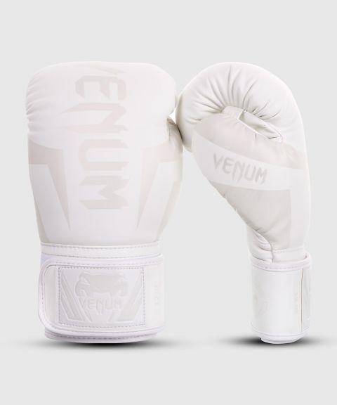 Боксерские перчатки Venum Elite - белые/белые