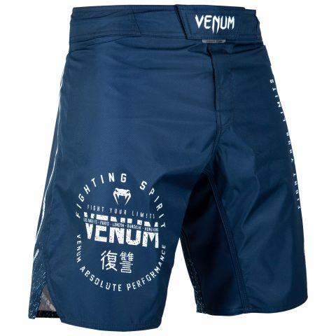 Venum Signature Fightshorts - Navy Blue/White