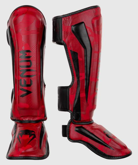 Venum Elite Shin Guards - Red Camo