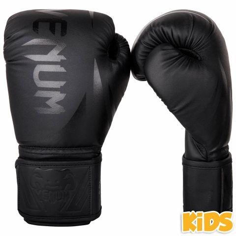 Детские боксерские перчатки Venum Challenger 2.0 - Черный/Черный