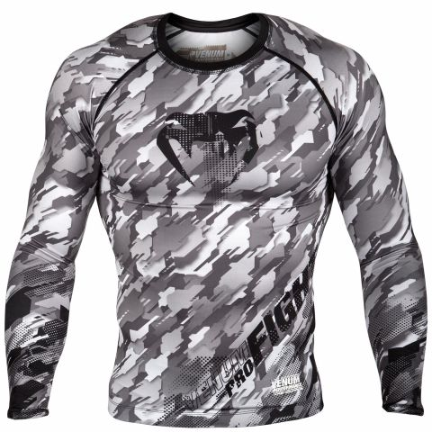 Venum Tecmo Rashguard - Long Sleeves - Grey