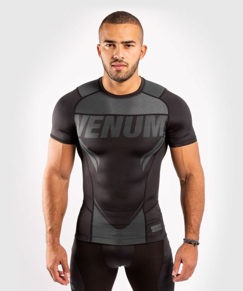 Venum ONE FC Impact Rashguard - short sleeves - Black/Black