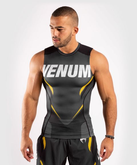 Venum ONE FC Impact Rashguard - sleeveless - Grey/Yellow