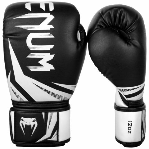 Боксерские перчатки Venum Challenger 3.0 - Черный/Белый