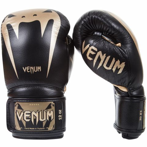 Venum Giant 3.0 Boxing Gloves - Nappa Leather - Black/Gold