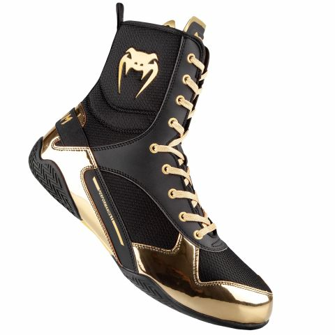 Venum Elite Boxing Shoes - Black/Gold